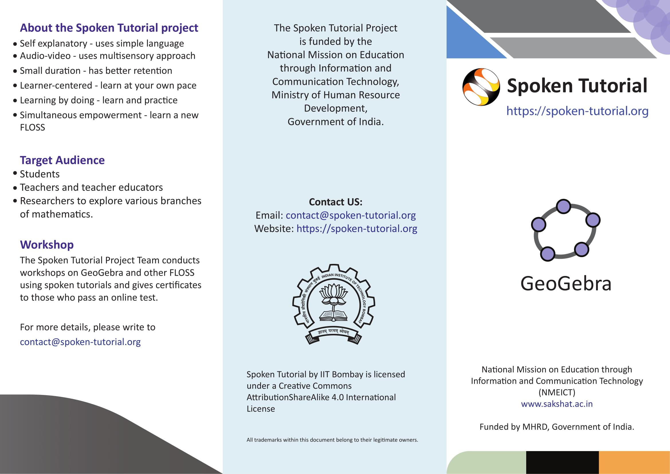 View Brochure   spoken-tutorial org