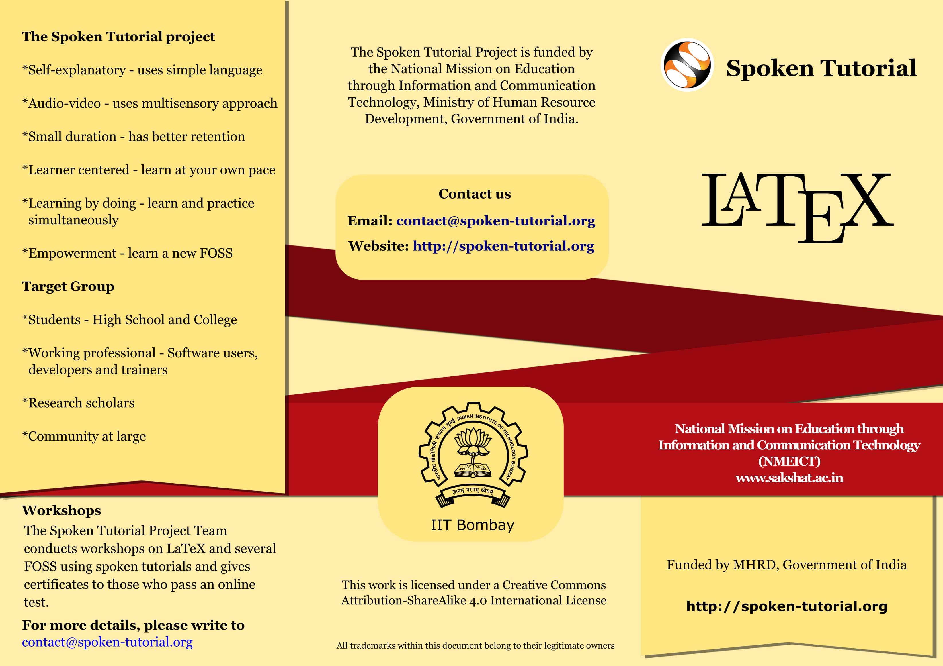 View Brochure | spoken-tutorial org