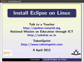 Installing Eclipse - thumb