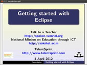Getting started Eclipse - thumb