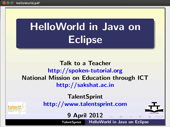 Hello World Program in Eclipse - thumb
