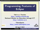 Programming features Eclipse - thumb