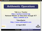 Arithmetic Operations - thumb