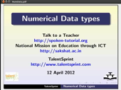Numerical Datatypes - thumb