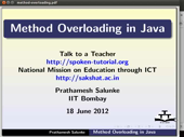 Method overloading - thumb