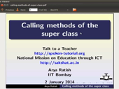 Calling methods of the superclass - thumb