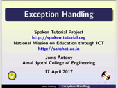 Exception Handling - thumb