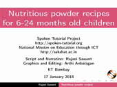Powder recipes for 6 to 24 months old children - thumb