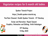 Vegetarian recipes for 6 month old babies - thumb