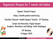 Vegetarian recipes for 7 month old babies - thumb