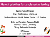 General guidelines for Complementary feeding - thumb