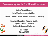 Complementary food for 6 to 24 month old babies - thumb