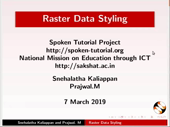 Raster Data Styling - thumb