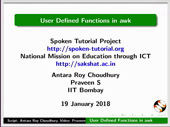 User Defined Functions in awk - thumb