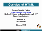 Overview of HTML - thumb