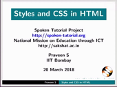 Styles and CSS in HTML - thumb