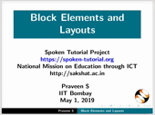 Block Elements and Layouts - thumb