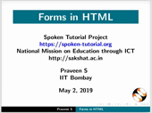 Forms in HTML - thumb