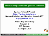 Administrating Group with gpasswd command - thumb