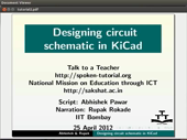Designing circuit schematic in KiCad - thumb