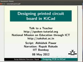 Designing printed circuit board in KiCad - thumb