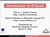 Getting Started with Ktouch - thumb