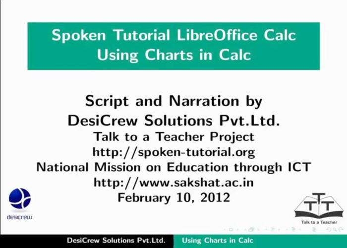 Using Charts and Graphs - English   spoken-tutorial org