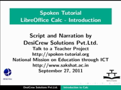 Introduction to LibreOffice Calc