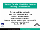 Printing a Presentation Document - thumb