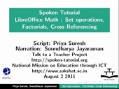 Set Operations Factorials Cross reference equations - thumb