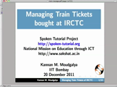 How to manage the train ticket - thumb