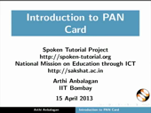 Introduction to PAN Card - thumb