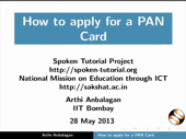How to apply for a PAN Card - thumb