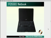 How to use FOSSEE Netbook - thumb