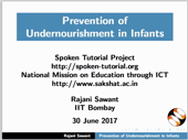 Prevention of Undernutrition in Infants - thumb
