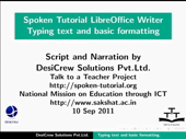 Typing text and basic formatting - thumb