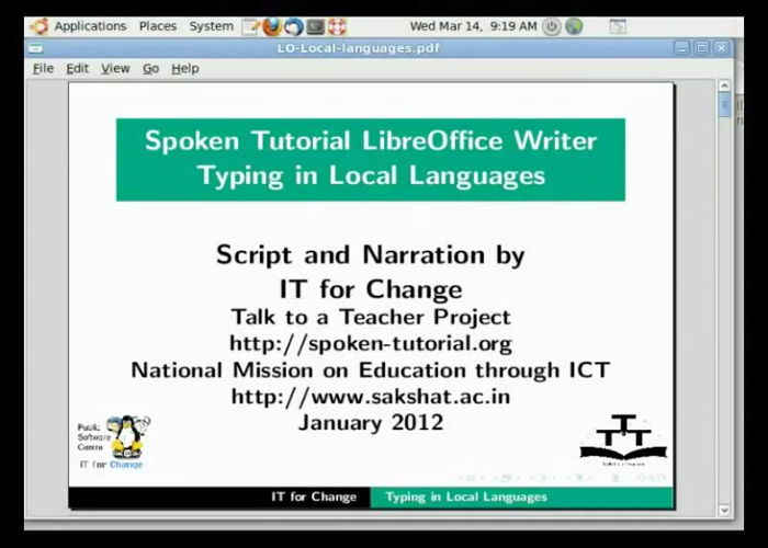 Typing in local languages - Kannada | spoken-tutorial org