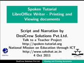 Viewing and printing a text document - thumb