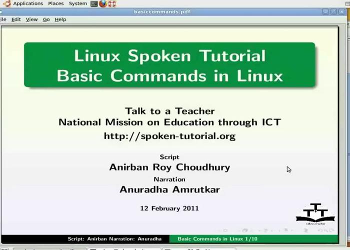 Basic Commands - Bengali | spoken-tutorial org