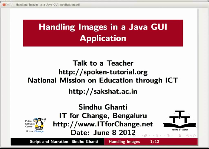 Handling Images in a Java GUI Application - Tamil | spoken-tutorial.org