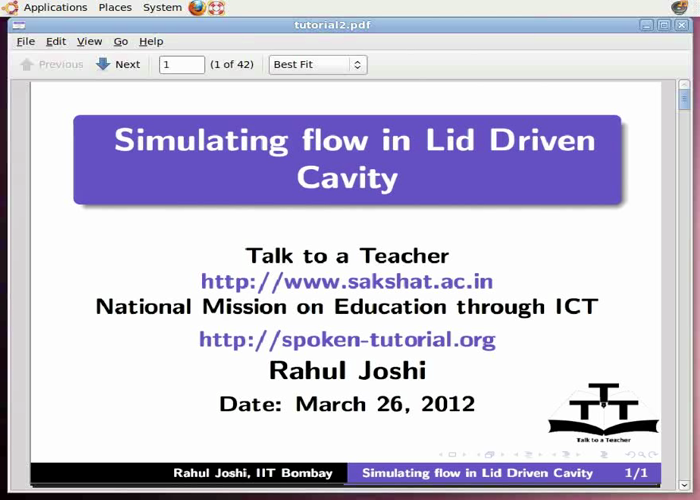 Simulating flow in a Lid Driven Cavity - English | spoken