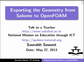 Exporting geometry from Salome to OpenFOAM - thumb