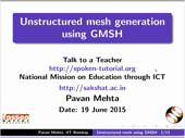 Unstructured mesh generation using Gmsh - thumb