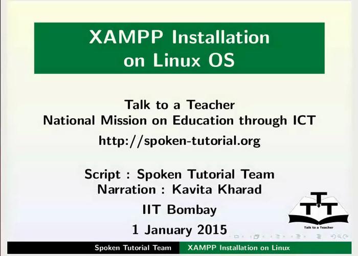 XAMPP in Linux - English | spoken-tutorial org