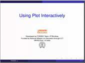 Using the plot command interactively - thumb