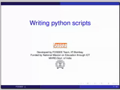 Writing python scripts - thumb