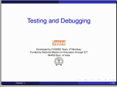 Testing and debugging - thumb