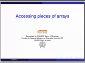 Accessing parts of arrays - thumb