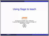 Using sage to teach - thumb