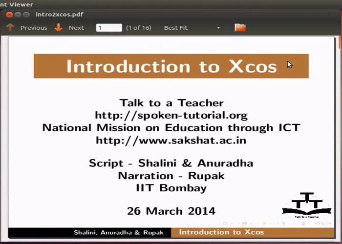 Xcos Introduction - English | spoken-tutorial org